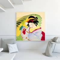 Pittura Geisha Kabuki Natori Giappone Stampa Su Tela Classico Kimono Giapponese Donna di Arte Della Parete per La Decorazione Domestica Opere Migliore Regalo