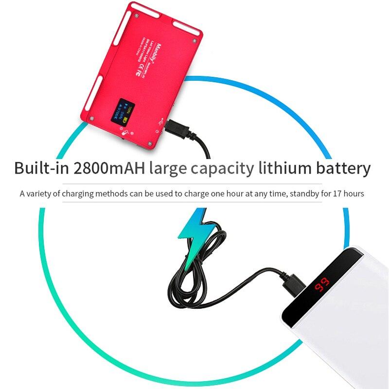 Manbily MFL-03 3500-5700 K LED Mini cámara de Video regulable luz 96 LED iluminación fotográfica lámpara para Canon DSLR nikon Pentax - 4