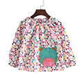 2016 New 2-8Y spring summer girls clothes casual long sleeve girls blouses fashion cat style little child shirts for girls