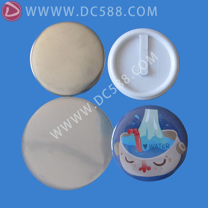 [Manufacturers wholesale]500stes1-3/4( 44mm)Tin Badge  plastic Clip  Button  Wholesale clip button material DCCK-44 2017 wholesale manufacturers 2 50mm 1000sets plastic pinback badge material