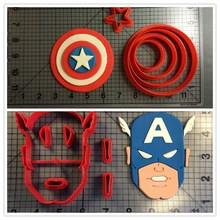 Custom Made 3D Printed Cartoon Supper Hero Series Fondant Cake Cookie Cutter Set