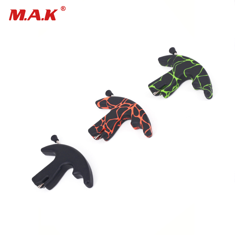3 Color Three Finger Thumb Release Aid 7*11*2 cm Bow Archery Bow Release for Outdoor Archery Hunting Shooting
