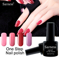 sarness 1pcs One Step Easy Use Easy Remove One-Step Colors Nail Gel Lacquer Nail Polish 3 in 1 Gel Varnish soak off