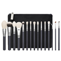 Top Quality Brand Makeup Brsuhes Set Complete Luxury Cosmetic Tool Rose Golden Brush Kit Blend With