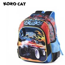 Cartoon Car Schoolbags Kids Satchel Child School Backpack EVA Racing Cartoon Folded Orthopedic Children School Bags for Boys