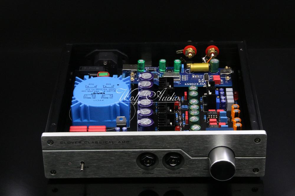 Prix pour Fini A2-PRO Casque Amplificateur PCM2706 + ES9023 USB DAC HIFI Référence Beyerdynamic A2 Headhpone AMP