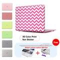 Blanco chevron portátil cubierta de la manga para portátil apple macbook pro 12 portátil 13 15 Retina Caso Para Mac Air 11 13 Caso A1278 A1286