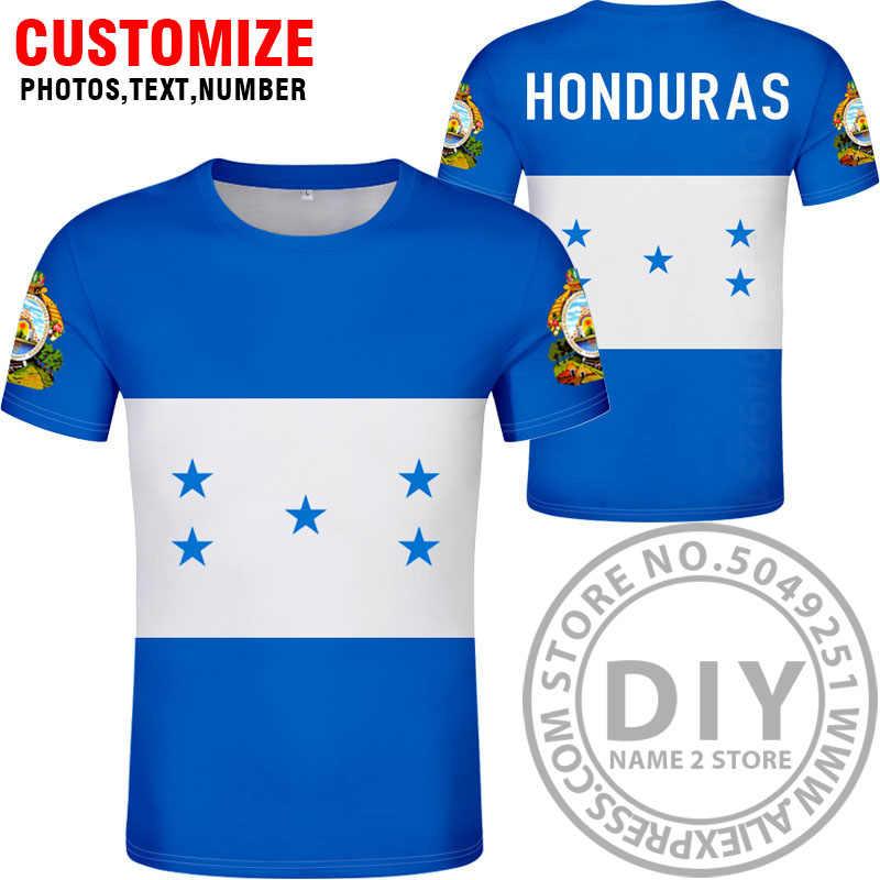 온두라스 t 셔츠 diy 무료 사용자 정의 만든 이름 번호 모자 t-셔츠 국가 플래그 hn 국가 인쇄 사진 로고 온두라스 스페인어 의류