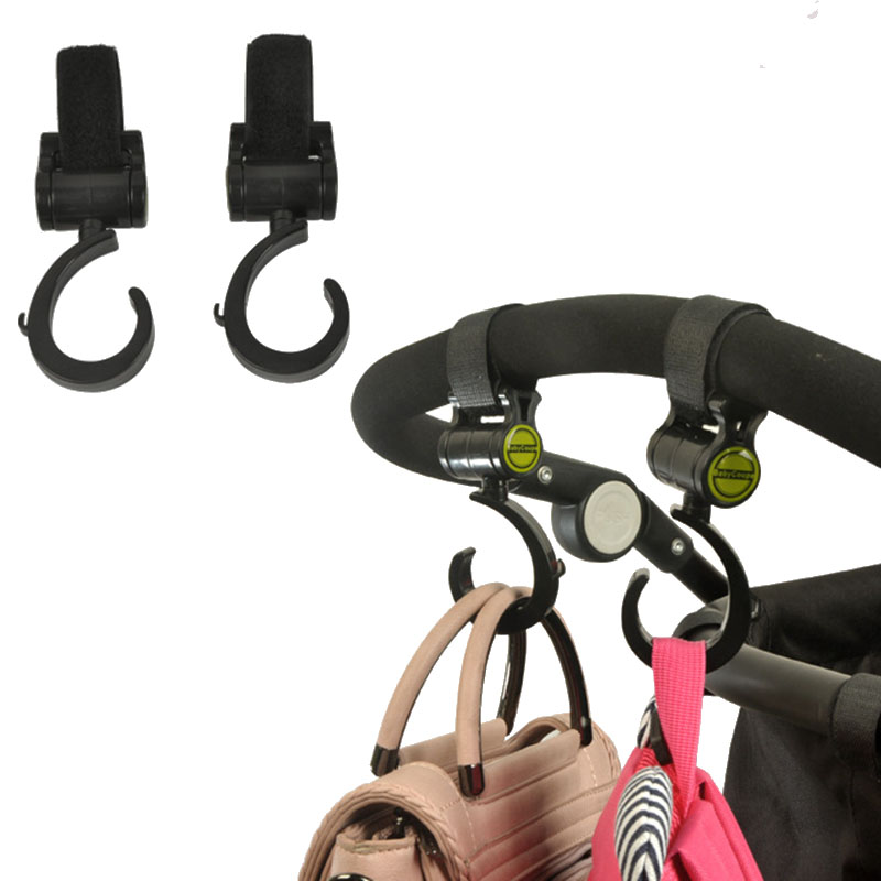 Baby cart backpack hooks Stroller accessories Trolley hooks 360degrees rotate Stroller hook Suitable for most stroller in Strollers Accessories from Mother Kids