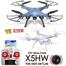 Hot sale Drones 2.4G 4CH 6Axis Quadrocopter FPV Camera WIFI RC Drone Remote Control Helicopter Syma X5sw Upgraded Version X5hw