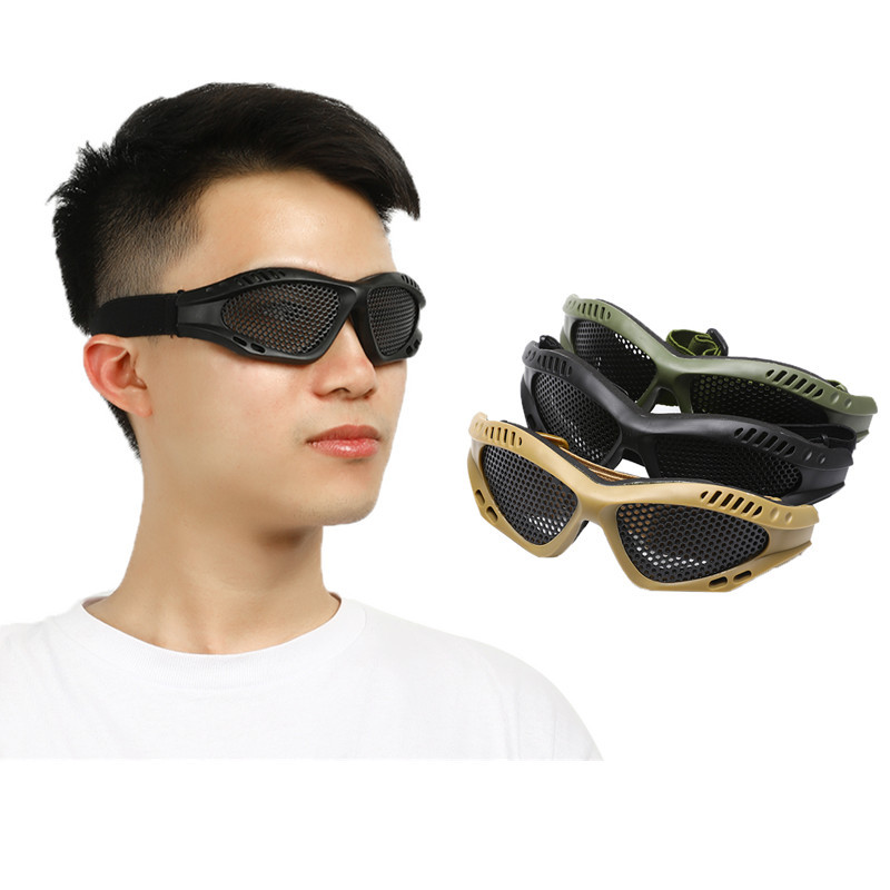 Eye Protective Safety Tactical Glasses Comfortable Anti Fog With Metal Mesh Shock Resistance Game Protector Goggles Outdoor