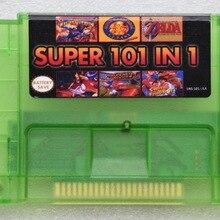 Süper 101 in 1 SNES için 16 bit 46 pin video oyunu kartuşu SNES için ABD sürüm oyun oyuncu (24 oyunları Can Pil Kaydet)