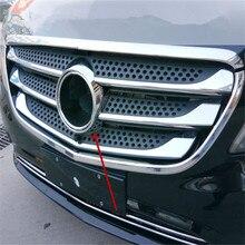 WELKINRY автомобильный чехол для Benz VITO V-Class Viano Valente Metris ABS Передняя лицевая Решетка Логотип Торговая марка отделка