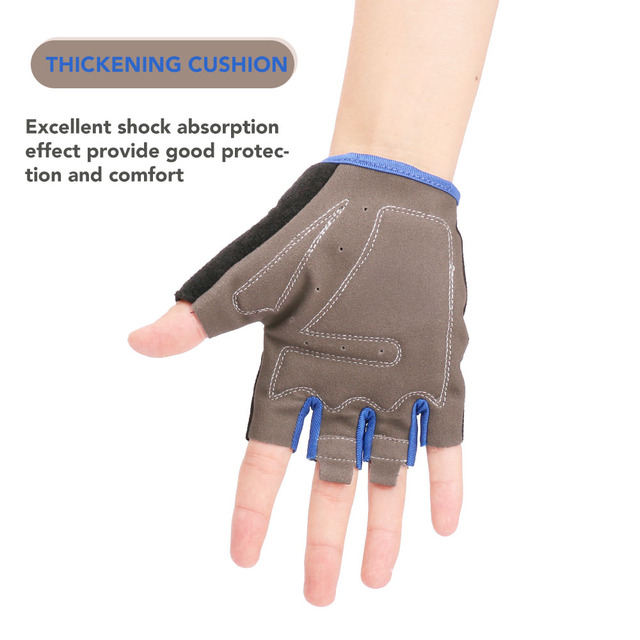 Half Finger Cycling Bike Gloves with Absorbing Sweat Design for Men and Women Bicycle Riding Outdoor