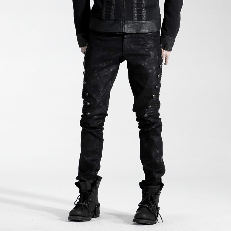 Gothic Fashion Vintage Rock Pirate Cosplay Heavey Metal Men Top Pants K136 M 4XL-in Casual Pants from Men's Clothing    1