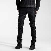 Gothic Fashion Vintage Rock Pirate Cosplay Heavey Metal Men Top Pants K136 M-4XL