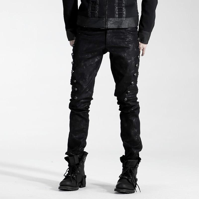 أزياء القوطية خمر الصخور القراصنة تأثيري heavey معدن الرجال أعلى السراويل k136 M 4XL-في سروال كاجوال من ملابس الرجال على  مجموعة 1