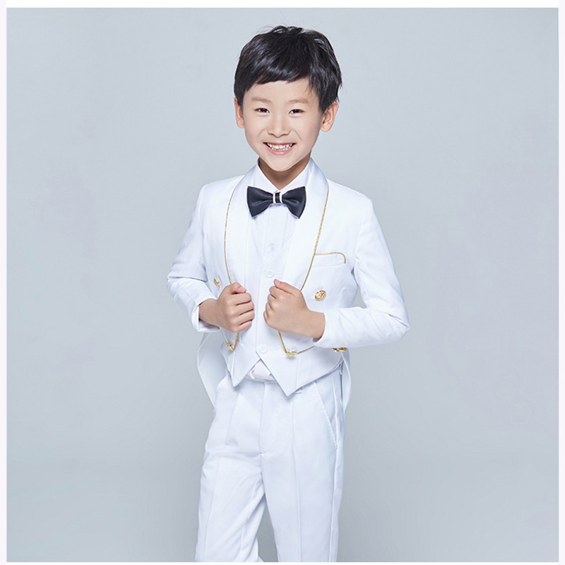 Tailcoat Shawl Lapel Children boy Suit Tuxedo Black/White Kid ...