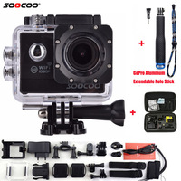 SOOCOO Action Camera C20 Full HD 1080P WIFI Waterproof 170 Wide Angle Sports Cam Extra Aluminum