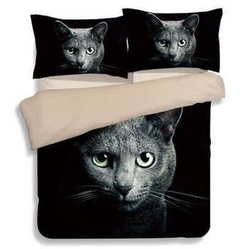 3d Animal Cat Cute Kitty Bedding Twin Full Queen Super King Size Duvet Cover with Pillowcase for Single Double Beds