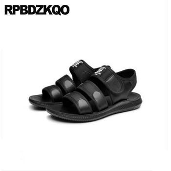 Beach Designer Mesh Roman Sneakers Men Gladiator Sandals Summer Flat High Quality Japanese Strap Shoes Black 2018 Outdoor Sport