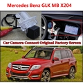 Câmera do carro para MB Mercedes Benz GLK X204 Conectado com Original Tela/Monitor Retrovisor Back-up Da Câmera do carro Original tela