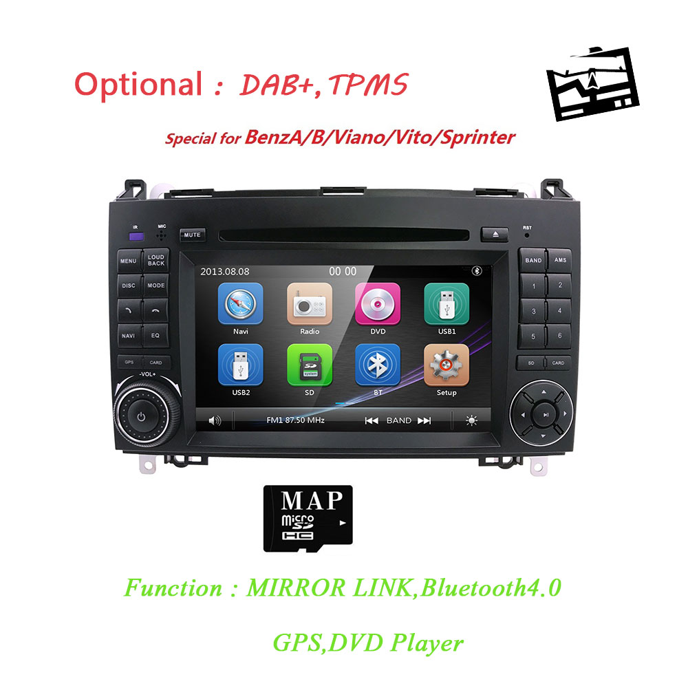 Car In Dash DVD Player GPS Navigation for Mercedes-Benz W169 A150/A160/A170/A180/A200 W245 B160/B170/B180/B200 W639 Vito/Viano WCar In Dash DVD Player GPS Navigation for Mercedes-Benz W169 A150/A160/A170/A180/A200 W245 B160/B170/B180/B200 W639 Vito/Viano W