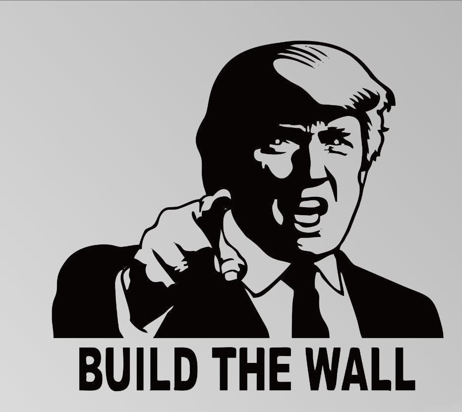 Donald font b Trump b font Build the Wall Vinyl Decal Car Truck Sticker Republican Funny