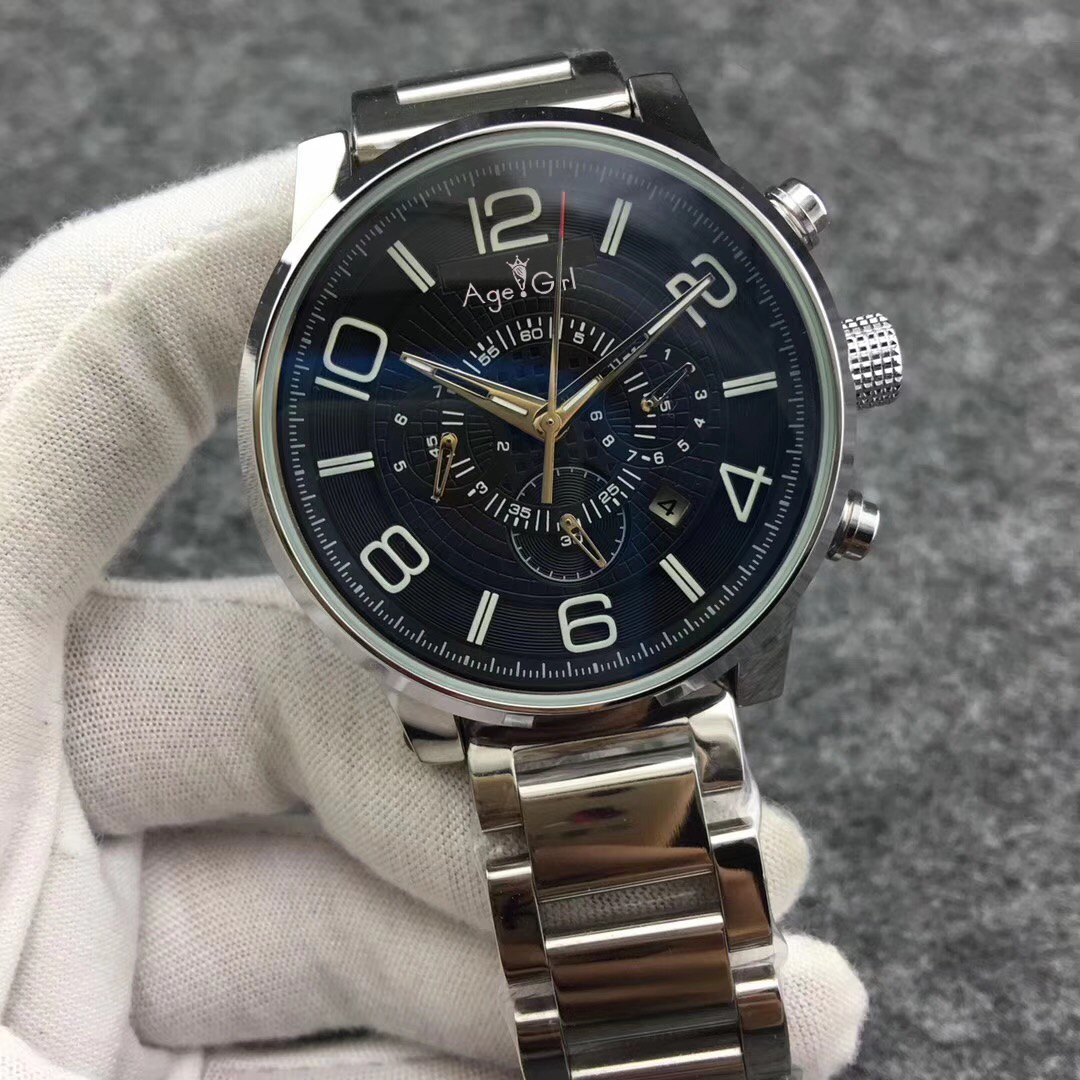 Luxury Brand New Men Automatic Mechanical Self-wind Silver Black Blue Watch Stainless Steel Leather Limited Wristwatch AAA+Luxury Brand New Men Automatic Mechanical Self-wind Silver Black Blue Watch Stainless Steel Leather Limited Wristwatch AAA+