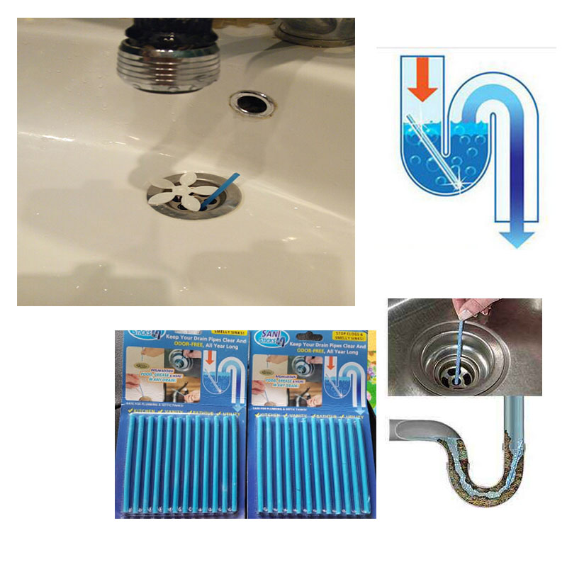 Super 12Pcs Row Sani Sticks Cleaning Keep Your Drains Pipes Clear Download Free Architecture Designs Embacsunscenecom