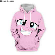 PLstar Cosmos Emoji Ahegao lovely Kawaii 3D Hoodies/Sweatshirts long sleeve Men Women Newest streetwear Harajuku fashion hoodies