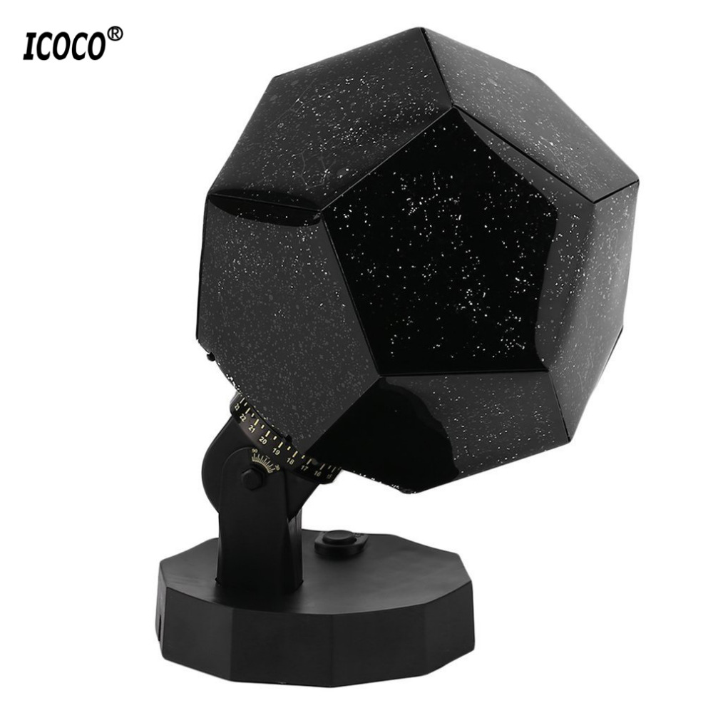 ICOCO LED Celestial Star Astro Sky Projection Cosmos Night Lights Star Projection Lamp Starry Romantic Bedroom Lamp For kid Home the starry sky iraqis projection lamp home night light for christmas