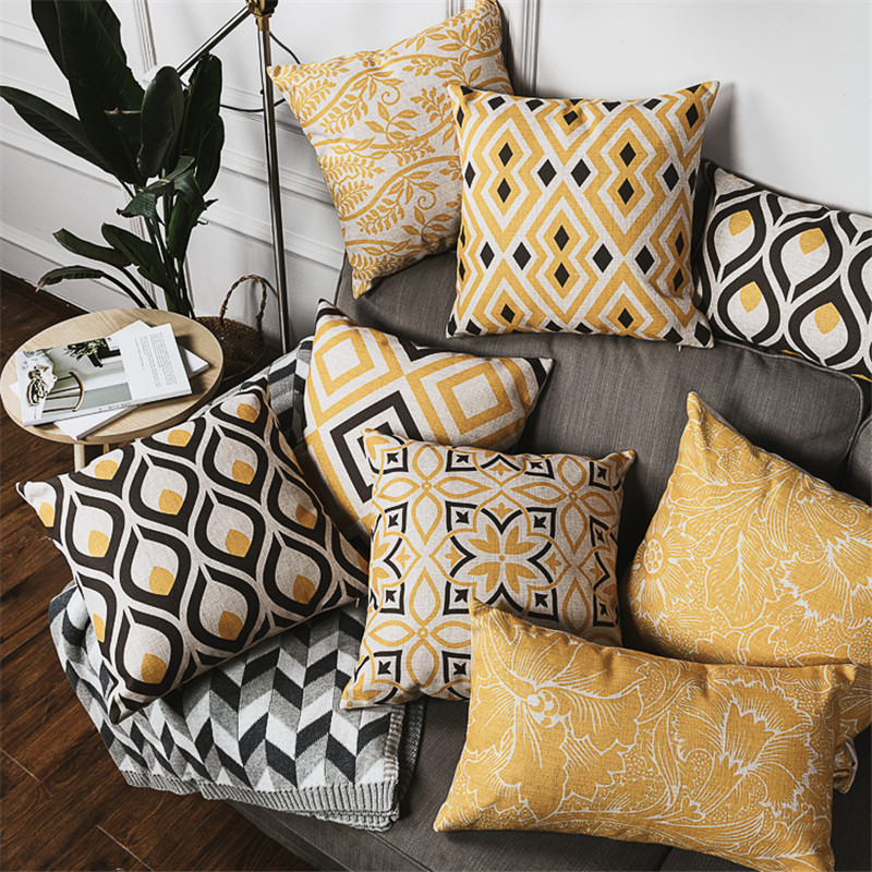 Us 14 99 Custom Made European Style Cushions For Sofas Creative Stylish Chair Pillow Geometric Pattern Decorative Throw Pillows Whole In Cushion