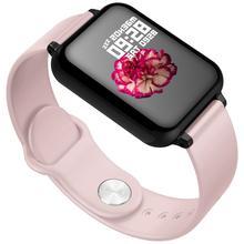 قمة المرأة ساعة ذكية مراقبة ضغط الدم Smartwatch النساء ساعة ذكية es الفاخرة إلكتروني سوار ذكي أندرويد IOS ساعة