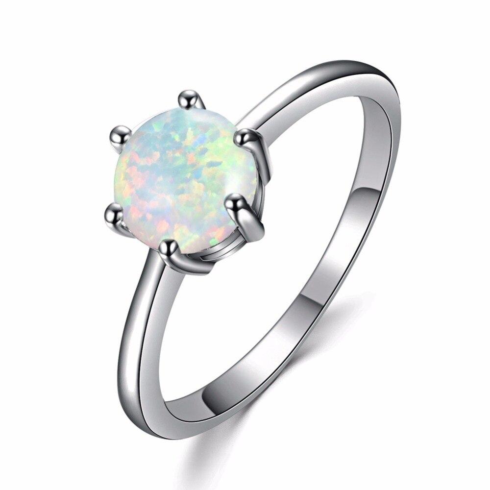 Женское кольцо с голубым/белым огненным опалом, из серебра 100% пробы