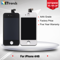 LCD Display Touch Screen Digitizer Full Assembly For IPhone 4 4 CDMA 4S Earpiece Anti Dust