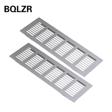 BQLZR 2pcs 250mm Square Aluminum Ventilation Vent Grille for Cupboard Wardrobe