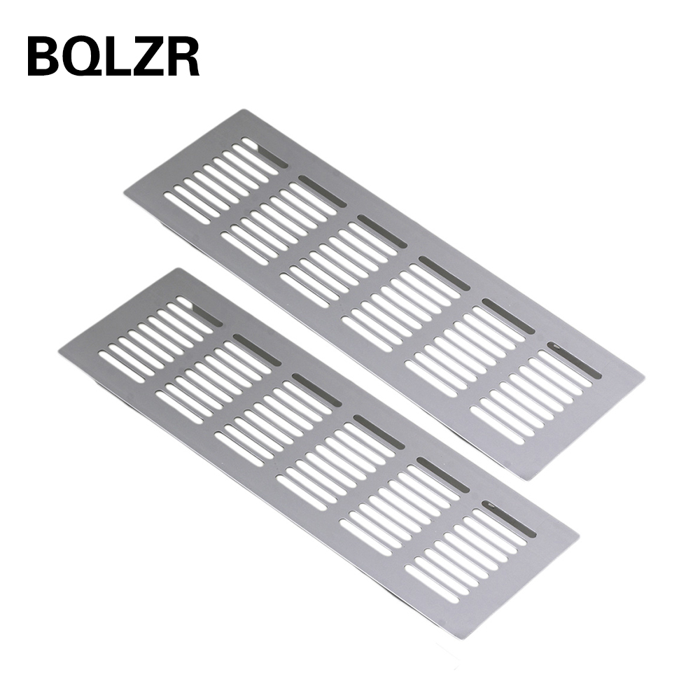 BQLZR 2pcs 225mm Square Aluminum Ventilation Vent Grille For Cupboard Wardrobe