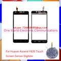 """Negro Blanco 5.0 """"para huawei ascend y635 pancel pantalla táctil del panel táctil digitalizador sensor de cristal código de seguimiento de la lente envío gratis"""