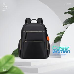 Image 5 - BOPAI 2020 Women Backpack Waterproof OL 14 Inch Women Laptop Backpack Plecak Black Bagpack Travel Business Fashion Mochila Mujer