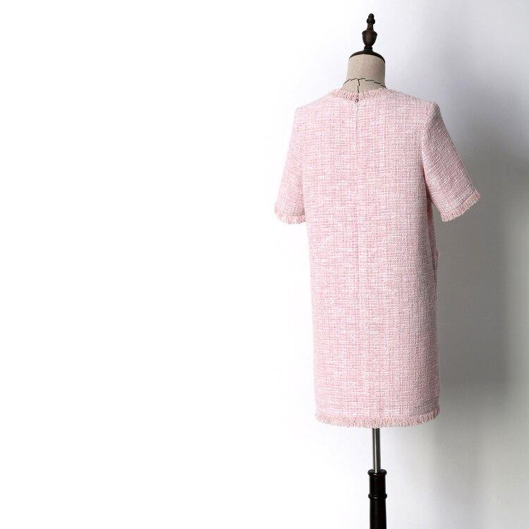 Nieuwe QZ8617030: 2018 roze, dunne, zachte, breezes, kleine geurende wind, zomer jurken. - 2