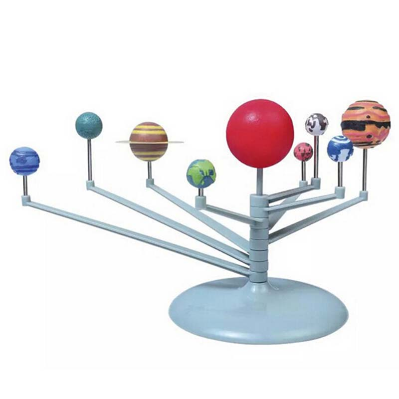 Solar System Nine Planets Planetarium Model Kit Astronomy Science Project DIY Kids Gift Children Worldwide Sale Early Education