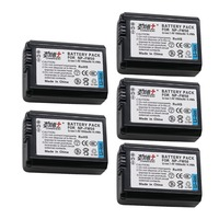 5pcs NP FW50 NP FW50 Replacement Battery for Sony NEX 7 NEX 5R NEX F3 NEX 3D Alpha a5000 a6000 Alpha 7 a7II A33 A35 A37 SLT A3