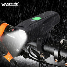 Front Handlebar Bike Lamp T6 LED Cycling Light USB Rechargeable Bicycle Headlight  5 Modes MTB Night Riding Safety Torch