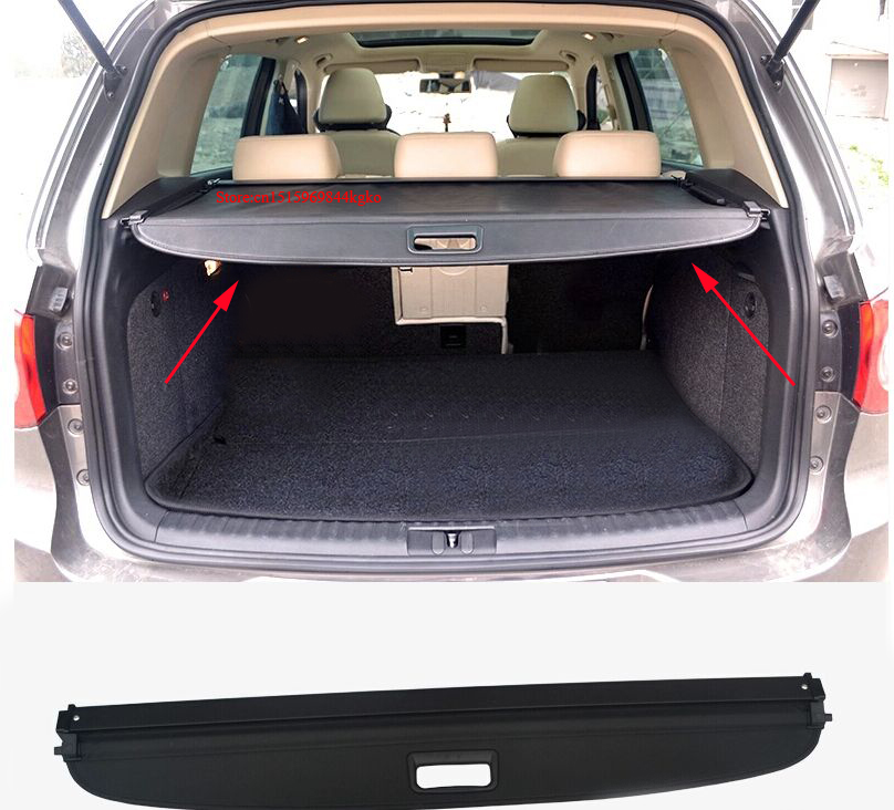 Rear Trunk Security Shield Cargo Cover trunk shade security cover for VW Tiguan 09-2011.2012.2013-2014.2015.Shipping car rear trunk security shield shade cargo cover for honda fit jazz 2004 2005 2006 2007 black beige