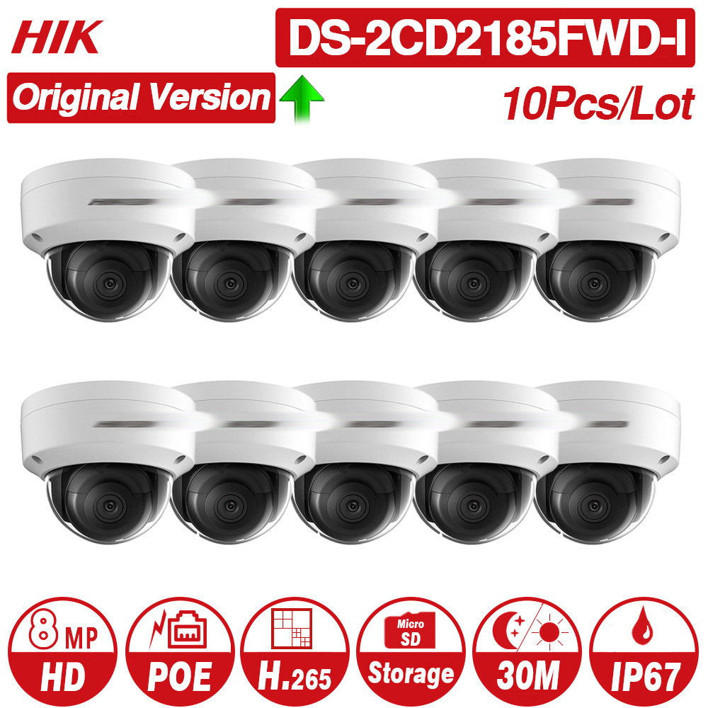 Pre sale Hikvision Original IP Camera DS 2CD2185FWD I 8MP Network Dome POE H 265 CCTV