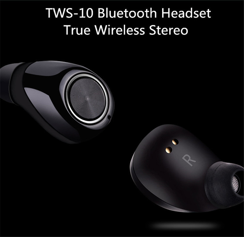 Sporch TWS-10 Bluetooth V4.2 Wireless Stereo Surrounding Earphones Noise Cancelling with Recharging Organizer 2016 white and black joway h 08 wireless noise cancelling voice control sports stereo bluetooth v4 0 earphones with microphone