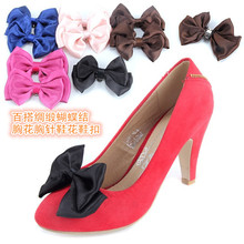 10*6cm All-match Satin Bow Shoes and Women Shoes  Accessories 1Pic