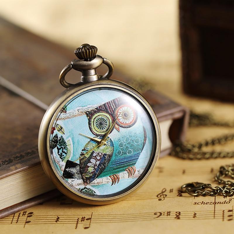 Reloj De Bolsillo Retron 3d Monkey Design Bronze Quartz Fob Pocket Watch With Necklace Chain For Men Women Best Gift Watches