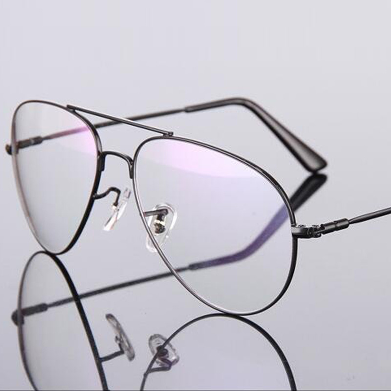 f7869b26f0 Transparent Gold Clear Glasses Titanium Alloy Eyeglasses Women Frame Retro Men  Optical Spectacle Clear Gold Clear for Men-in Sunglasses from Apparel ...